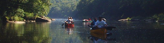 Canoes of the Clarion River  from Lazy River Canoe Rental